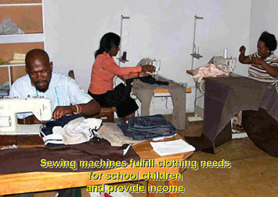 Light for Africa Ministries Sewing Project at work