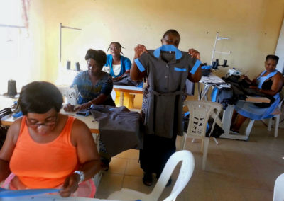 Light for Africa Ministries Sewing Project at workat work